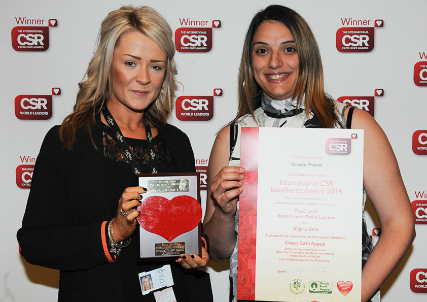 Winner at The CSR 2014 Awards